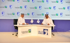 An agreement between ADNOC and Aramco to cooperate in the field of natural gas