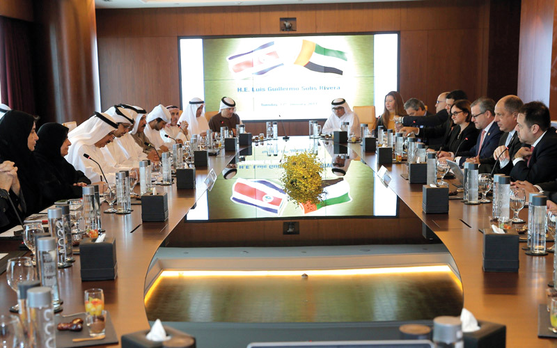 Costa Rica plans to open an embassy and trade representative office in the UAE in 2017