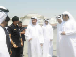 A mobile device for the detection of containers in the port of Fujairah Customs