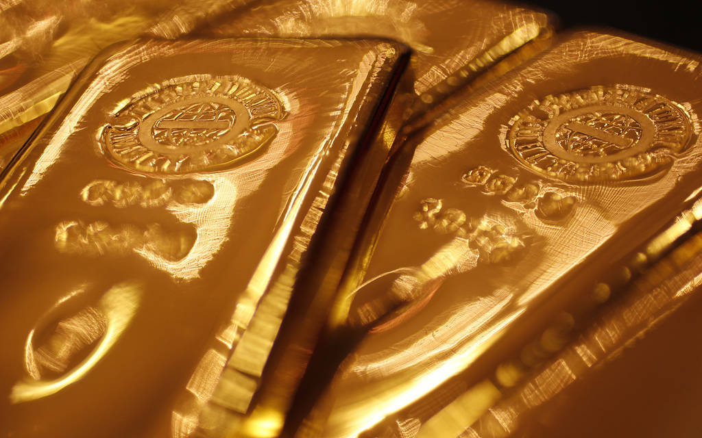 Gold is rising but still near a two-week low