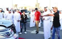 راشد بن سعود يزور مهرجان أم القيوين للسيارات والدراجات النارية