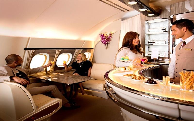 تصميم جديد للصالون الجوي على طائرات الإمارات