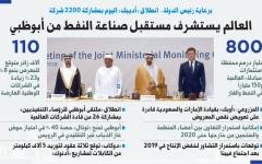 العالم يستشرف مستقبل صناعة النفط من أبوظبي