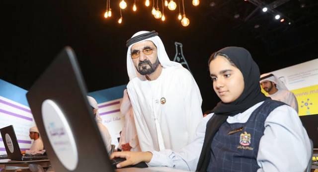 محمد بن راشد يطلق مشروع تعليمى جديد بالإمارات