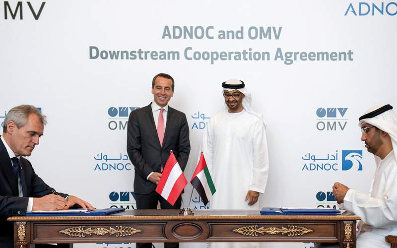 ADNOC Signs Memorandum of Understanding with OMV for Cooperation in Refining and Petrochemicals