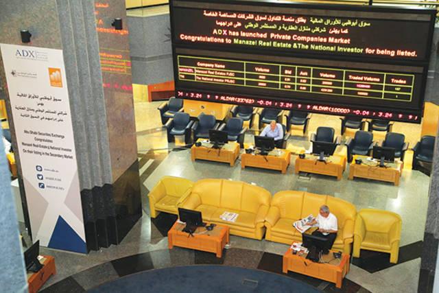 بورصة أبوظبي تربح أكثر من 4 مليارات درهم في الختام